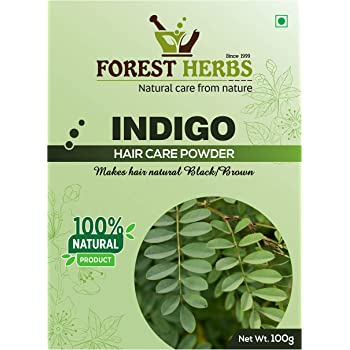 Forest Herbs 100% Natural Organic Indigo Leaf Powder for Hair Colour - 100Gms