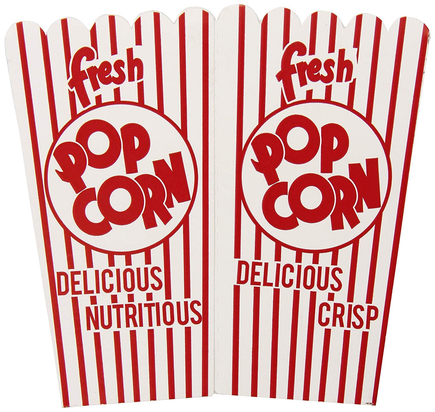 Free Shipping New 44e Open Top shop Popcorn Pack Boxes 50ct of