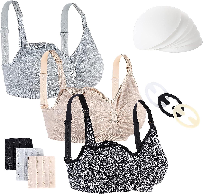 2021 spring and summer new NIMONI 3 Pack Women's Nursing Cheap SALE Start Bras Wireless Breast Bra Maternity