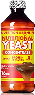 Nutritional Yeast Concentrate by Nutrition Greenlife (16 fl oz) with Vitamin B-12, Beta Glucan, Amino Acids | Butterscotch Flavor