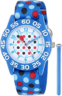 Red Balloon Kids' W001235 Interchangeable Strap Red Balloon Plastic Printed Stretch Nylon Watch Set