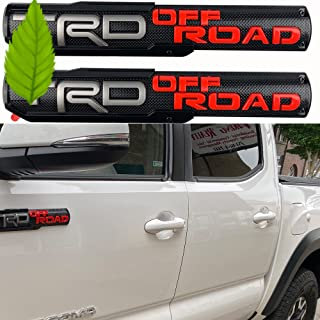Auto safety 3D Raised Badge Nameplate Emblem Compatible with Offroad Left & Right Side Front Door ABS Decoration with Genuine 3M Adhesive 2 Pack