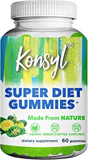 Konsyl Super Diet Gummies+ | Helps Support Healthy Weight+ | Vegan Dietary Supplement 60ct