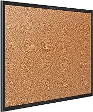 Quartet Cork Board, Bulletin Board, 6' x 4', Corkboard, Black Frame (2307B)
