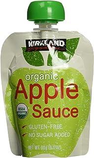 KIRKLAND (カークランド) シグネチャー オーガニック アップルソース パウチ 90g×24個