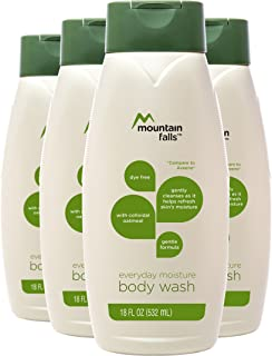 Mountain Falls Body Wash, Everyday Moisture, with Colloidal Oatmeal, 18 Fluid Ounce (Pack of 4)