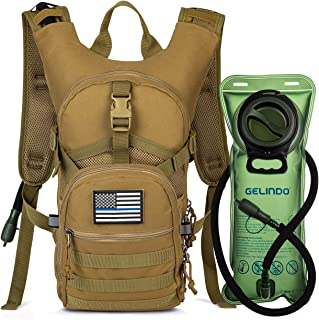 Military Tactical Hydration Backpack with 2L Water Bladder Light Weight, MOLLE Tactical Assault Pack for Hiking Biking Running Walking Climbing Outdoor Travel