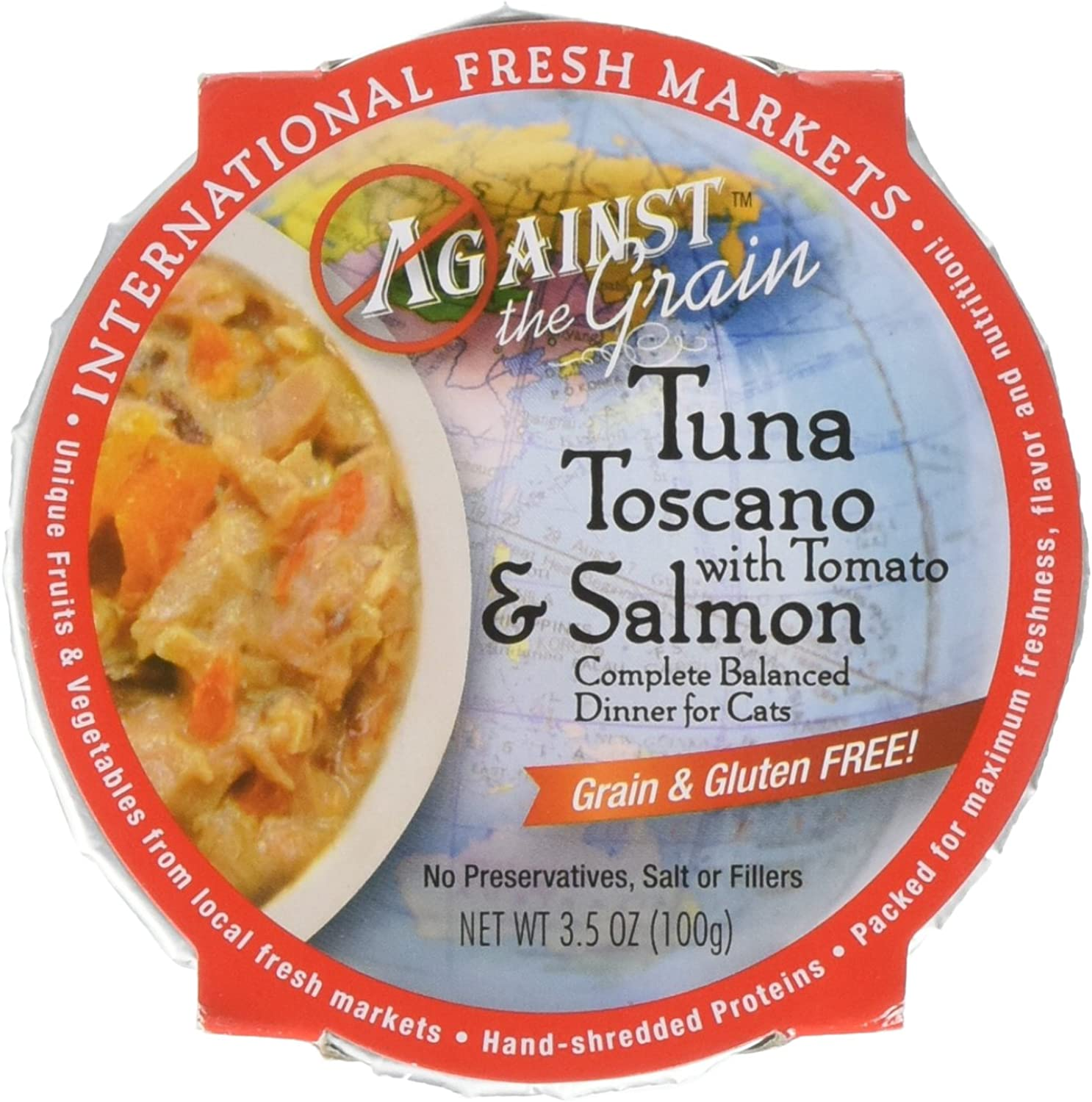 EVANGERS Against The Grain Tuna Toscano Cat Food, 3.5 oz