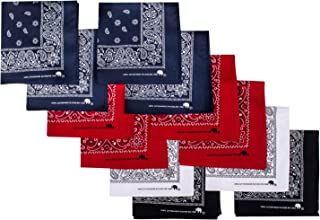 Elephant Brand Bandanas 100% Cotton Since 1898-12 Pack Assorted Colors