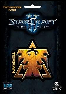 JINX Starcraft II: Wings of Liberty Terran Sticker, Gold, 2 Multi-Size Stickers