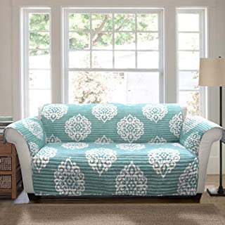 Lush Decor Sophie Furniture Protector-Bold Pattern Sofa Cover-Blue