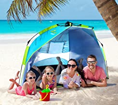 Nacuwa Beach Tent Shade Easy Setup, 2-3 Person Portable...