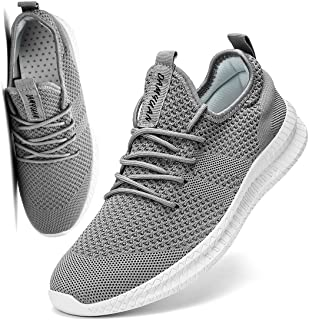 Men Running Shoes Men Casual Breathable Walking Shoes Sport Athletic Sneakers Gym Tennis Slip On Comfortable Lightweight Shoes