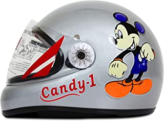 ACTIVE CANDY-1 Full Face Helmet for Kids from 2 to 5 Years (GREY,Size-Extra Small)(CARTOON CHARACTERs MAY VERY) (GREY)