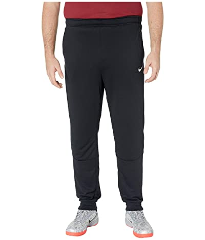 Nike Big Tall Dry Pants Taper Fleece (Black/White) Men