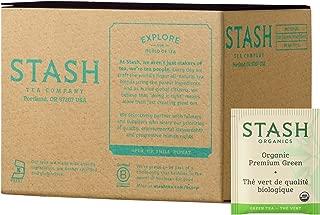 Stash Tea, Organic Premium Green Tea, 100 Count Box of Tea Bags Individually Wrapped in Foil, Medium Caffiene Tea, Japanese Style Green Tea, Hot or Iced