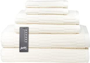 Chortex Ribbed Turkish Cotton 6 Piece Set, Set of 6 Towels, Almond