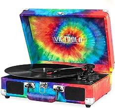 Victrola Vintage 3-Speed Bluetooth Suitcase Turntable with Speakers, Tie Dye