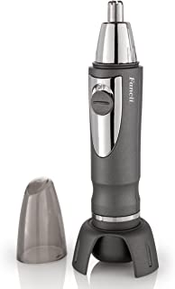 Fancii Professional Nose & Ear Hair Trimmer with LED Light, Water Resistant, Stainless Steel Blades, and Battery Power