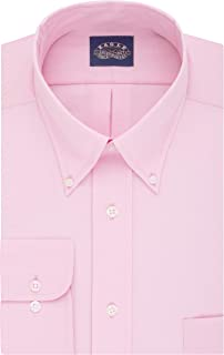 Eagle Men's Non Iron Stretch Collar Regular Fit Solid Dress Shirt