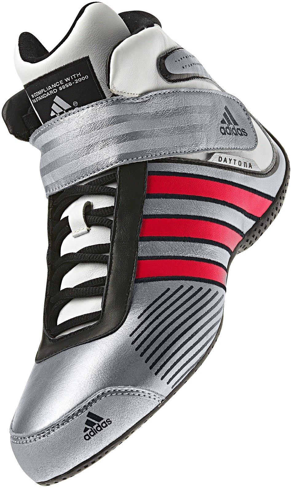 fractura Tigre radical  adidas Daytona Race Boots (10.5, silver/red): Amazon.co.uk: Car & Motorbike
