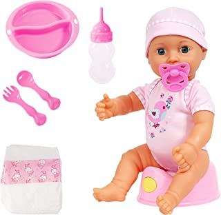 Little Bubba 78871 My Real Baby Magic Potty Doll