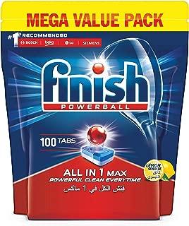 Finish Dishwasher Detergent Tablets, All in One Lemon, 100 Tablets