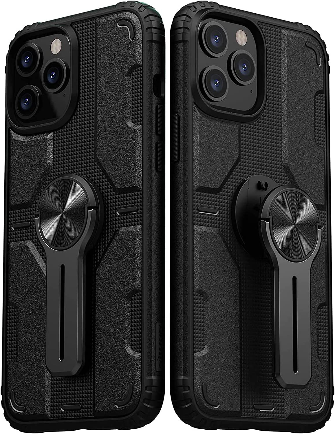 Nillkin Designed for iPhone 12 Pro Max Case,Heavy-Duty Tough Rugged Lightweight Slim Shockproof Kickstand Protective Case for iPhone 12 Pro Max 6.7 Inch, Black