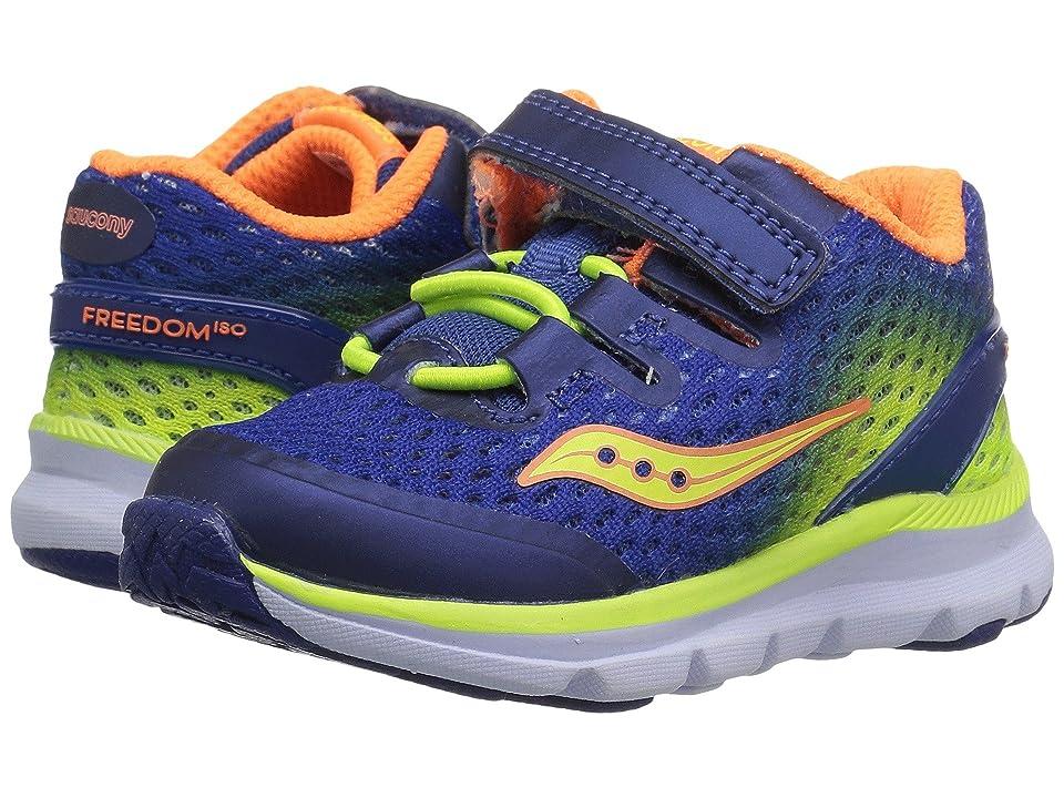 Saucony Kids Freedom (Toddler/Little Kid/Big Kid) (Blue/Citron/Orange) Boys Shoes
