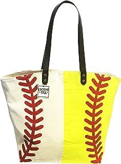 Baseball Softball Canvas Tote Bag Handbag Large Oversize Sports 20 x 17 Inches
