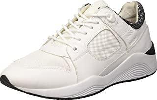 GEOX Womens Trainers D Omaya A Leather Casual Shoes - White