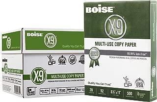 """$29 » Boise X-9 Multi-Use Copy Paper, 8.5"""" x 11"""", 92 Bright, 20 lb, 5 Ream Carton (2,500 Sheets)"""