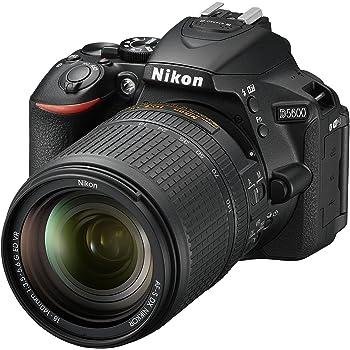 "Nikon D5600 - Cámara réflex de 24.2 MP (pantalla táctil de 3"", Full HD) negro - kit con objetivo AF-S DX 18 - 140 mm VR, versión europea"