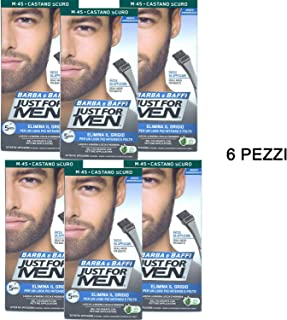 6 X JUST FOR MEN BARBA Y BAFFI COLOR TINTURA PERMANENTE CON
