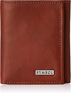Amazon Brand - Symbol Men's RFID Protected Tri-fold 100% Genuine Leather Wallet