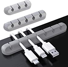 SOULWIT 3-Pack Cable Holder Clips, Desktop Cable Organizer Cord Wire Management for USB Charging Cable Power Cord Mouse Ca...