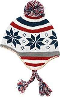 Connectyle Toddler Boys Girls Knit Kids Hat with Earflap Winter Beanie Hats 4f24bacb34ae