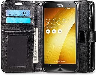 J&D Case Compatible for Zenfone 2 Case, [Wallet Stand] [Slim Fit] Heavy Duty Protective Shock Resistant Flip Cover Wallet Case for ASUS Zenfone 2 (5.5