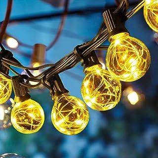 OxyLED Luces de hadas para exteriores,8.7 metros luces de hadas de cobre,luces de hadas LED para terraza de jardín,luces de hadas para interiores/exteriores para fiestas,bodas,Navidad,25+3 bombillas