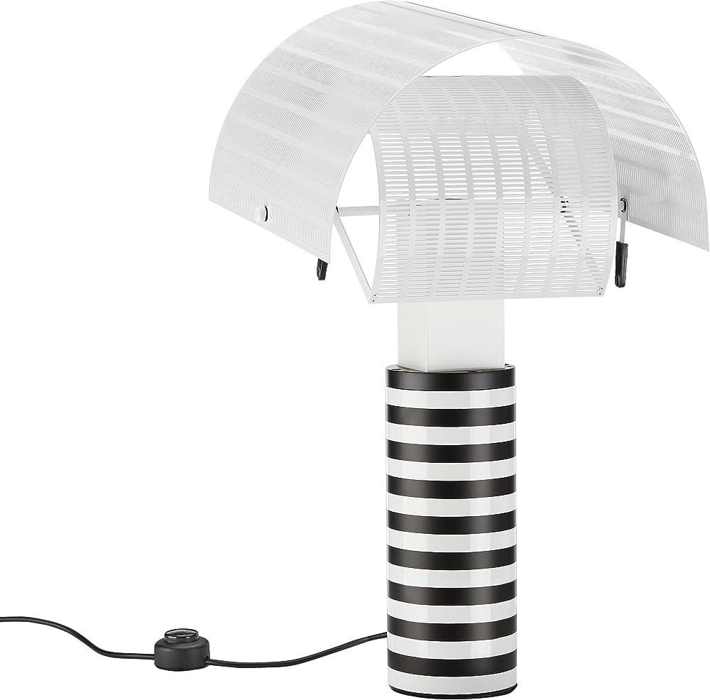 Artemide shogun, lampada da tavolo con diffusori orientabili, in lamiera d`acciaio forata e verniciata. A000300