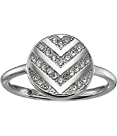 Fossil Chevron Glitz Ring