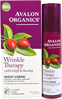 Avalon Organics Wrinkle Therapy Night Crème, 1.75 oz.