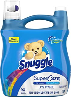 Sponsored Ad - Snuggle SuperCare Liquid Fabric Softener, Sea Breeze, 95 Ounce, 90 Loads
