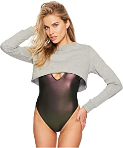 Sports Illustrated Cropped Sweatshirt Cover-Up