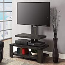Almeris Lux TV Stand with Mount Flat Screen Console Storage Media Display Shelves Unit Living Room Furniture Cabinet Video Games Entertainment Center