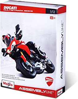 Maisto 1:12 Scale - Assembly Line Motorcycles - Die-Cast Metal Model Kit, Multi Color