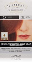 Il Salone Milano Professional Permanent Color Kit - 7.4 Dark Copper - 100% Gray Coverage Hair Dye - Paraffin Free - Ethyl Alcohol Free - Moisturizing Oils
