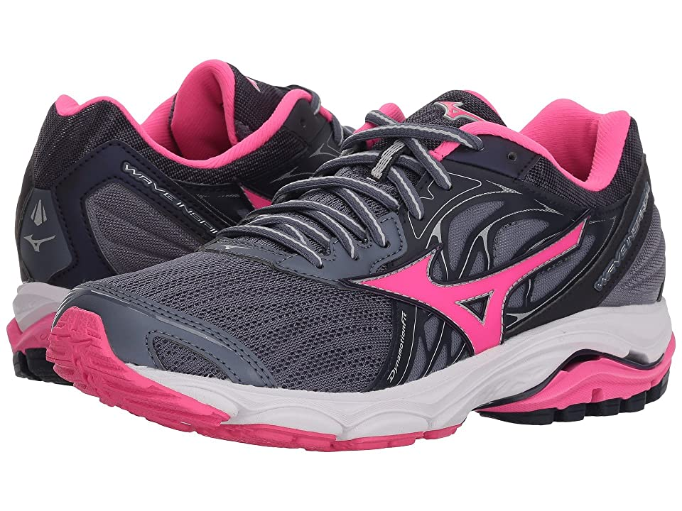 Mizuno Wave Inspire 14 (Folkstone Gray/Pink Glo) Girls Shoes