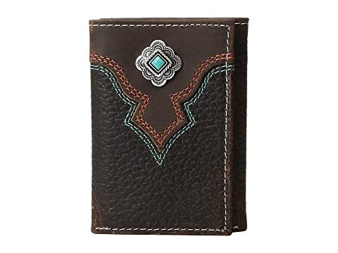 Free Shipping Online Amazon Online M&F Western Turquoise Stone Concho Trifold Wallet Medium Brown Cheap Sale New Buy Cheap Original OOkNTYH