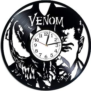 Kovides Venom Room Art Lp Vinyl Retro Record Wall Clock Vintage Marvel Comics Gift Birthday Gift for Man Venom Clock Movie Art Xmas Gift Idea